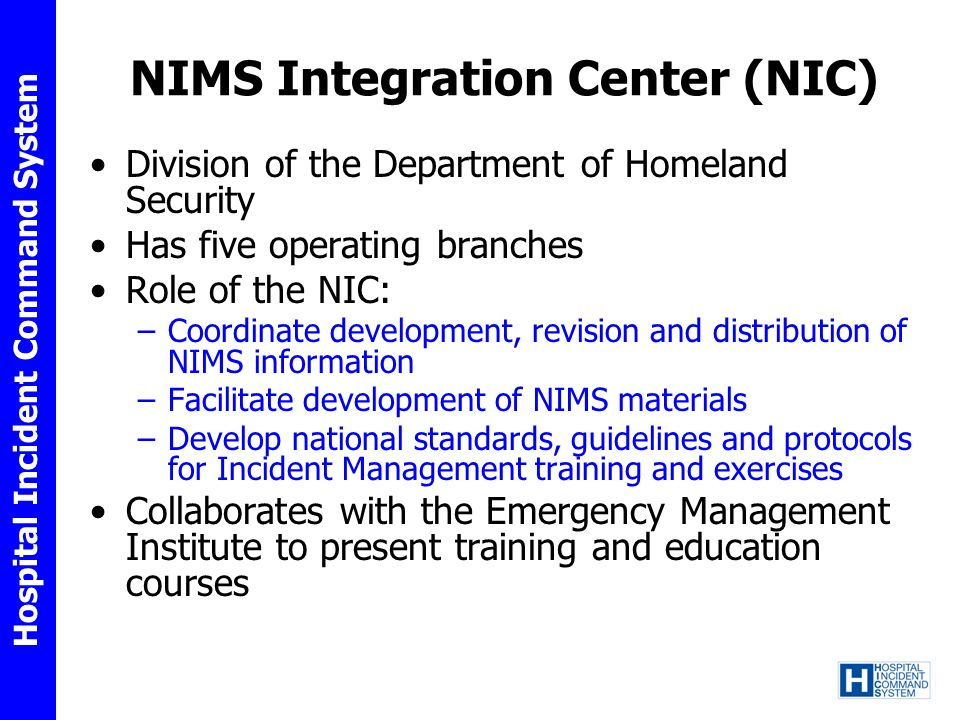 NIMS Integration Center (NIC)