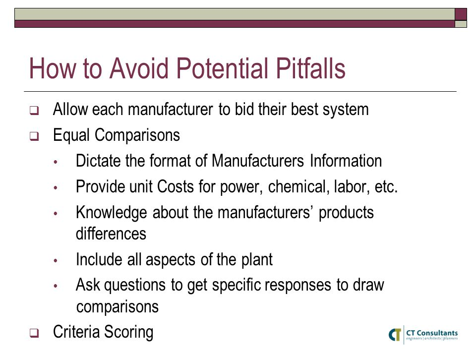 How to Avoid Potential Pitfalls