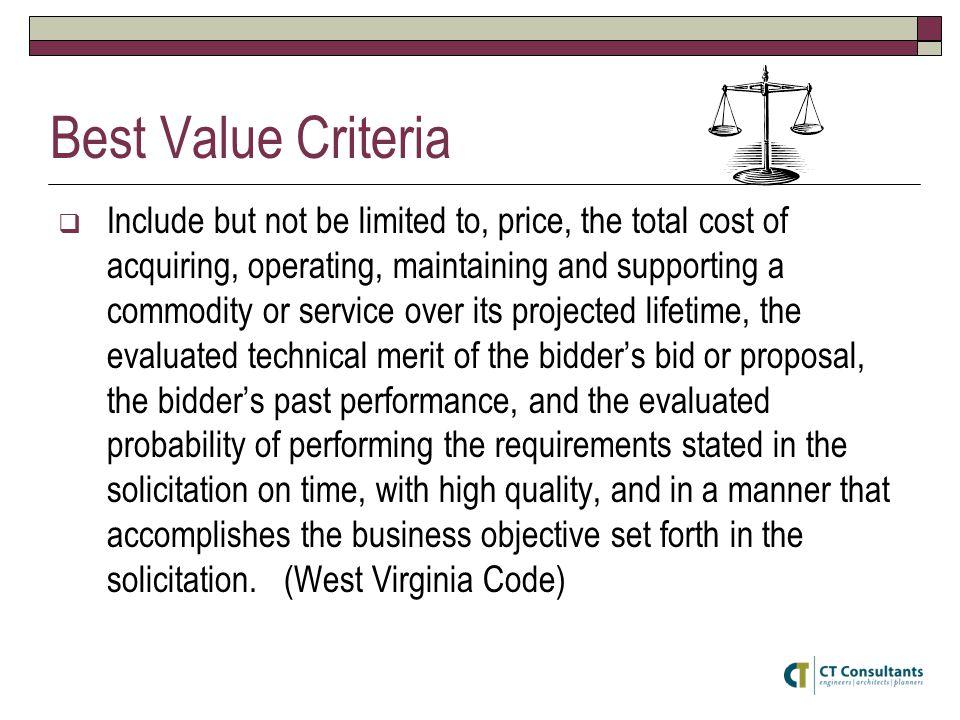 Best Value Criteria