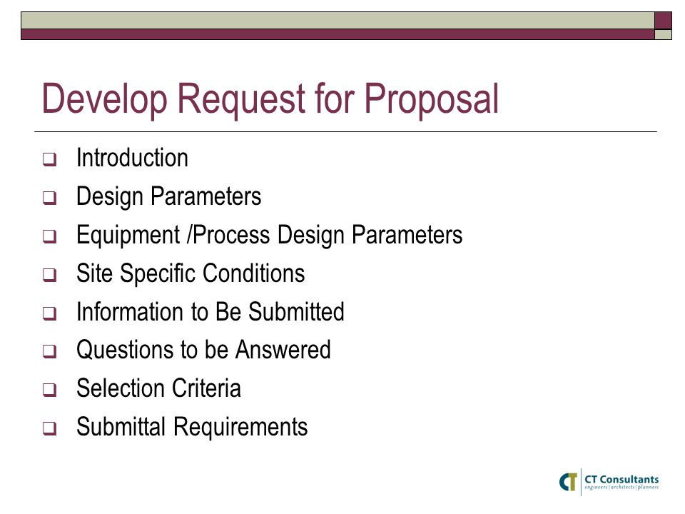 Develop Request for Proposal