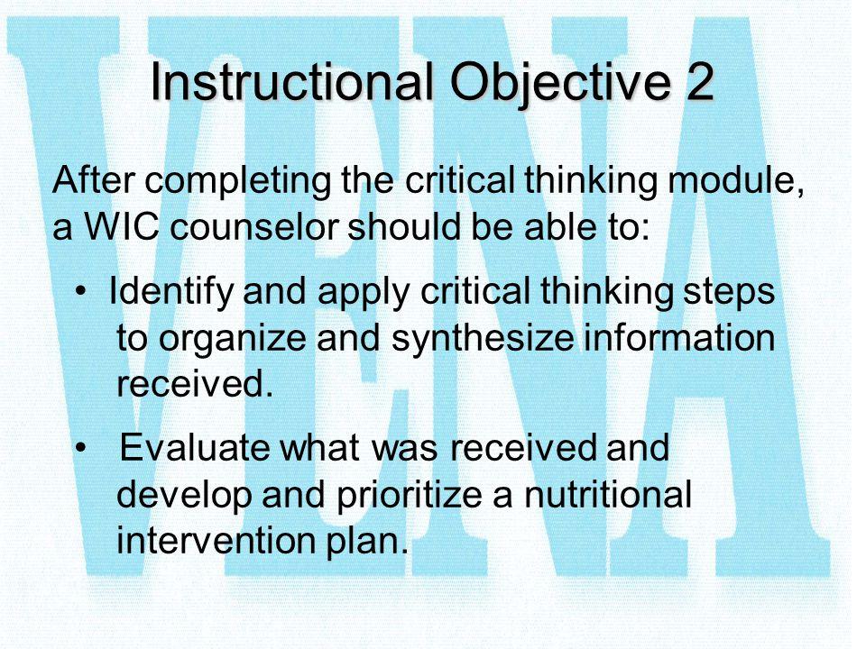 Instructional Objective 2