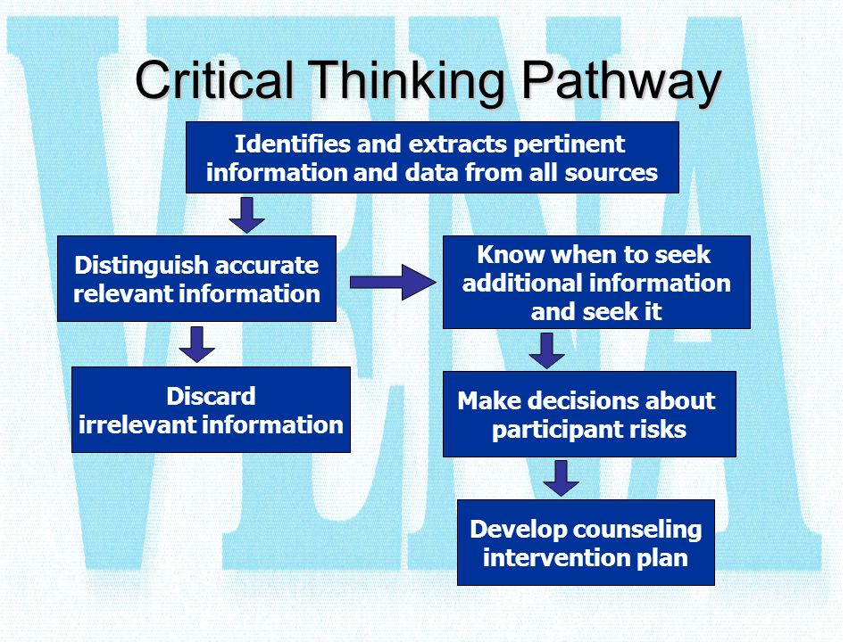 Critical Thinking Pathway