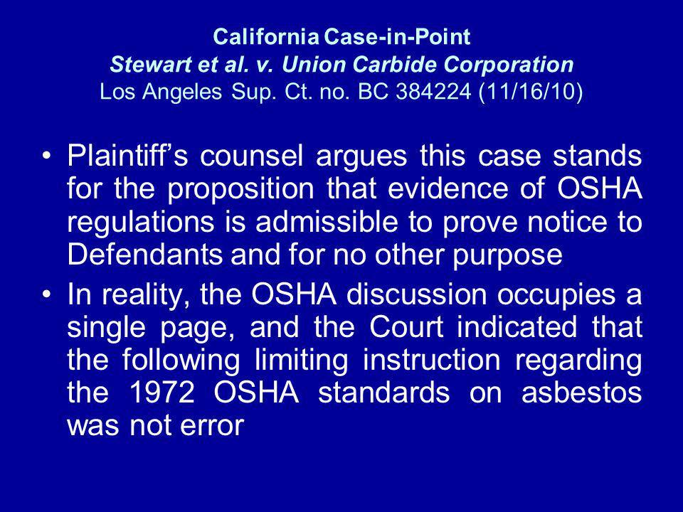 California Case-in-Point Stewart et al. v