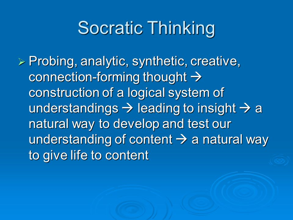Socratic Thinking