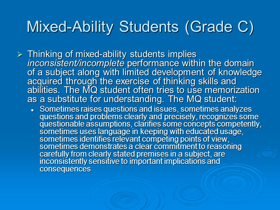 Mixed-Ability Students (Grade C)