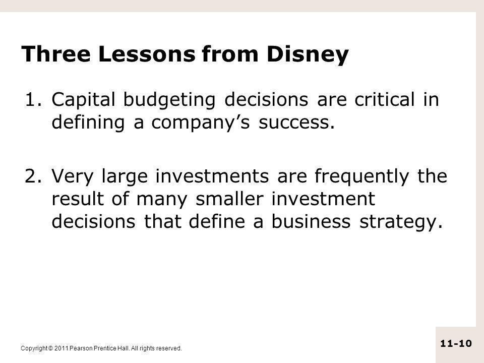 Three Lessons from Disney