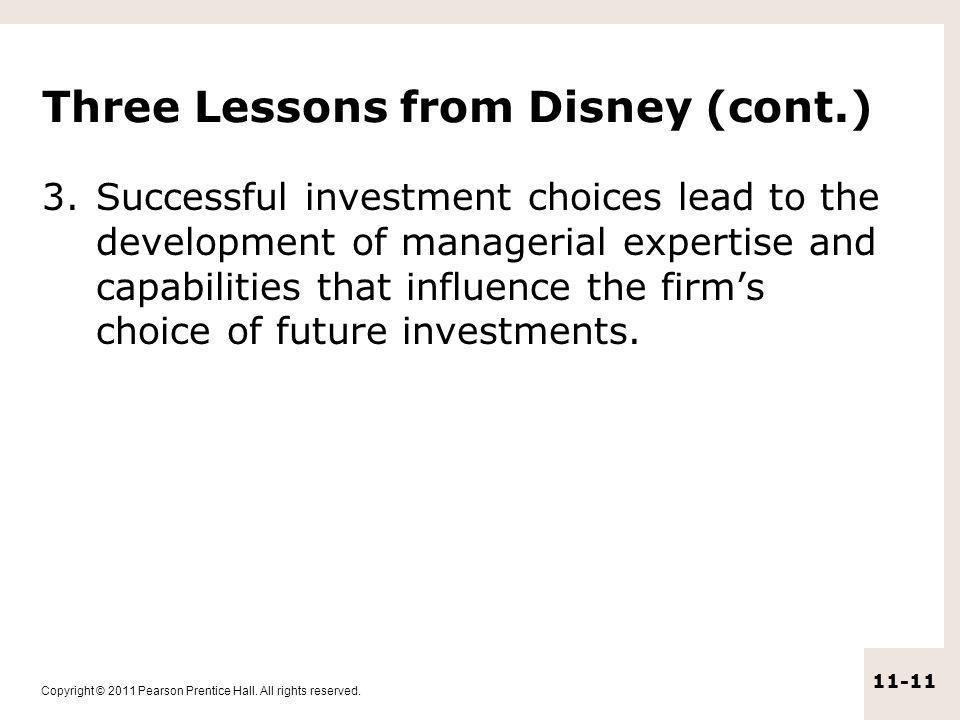 Three Lessons from Disney (cont.)