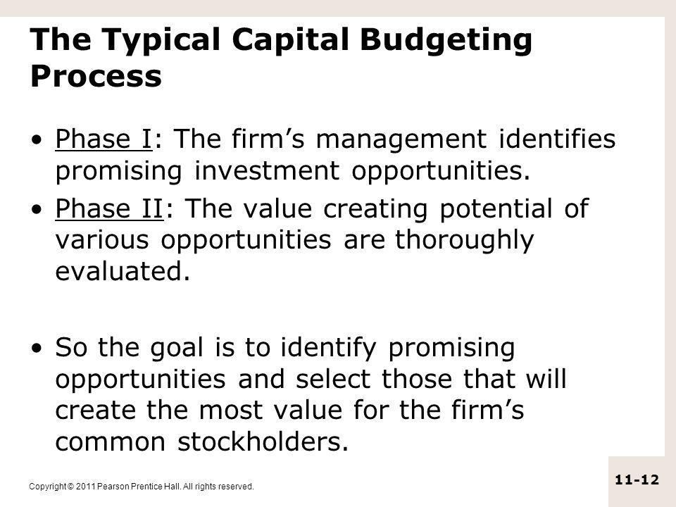The Typical Capital Budgeting Process