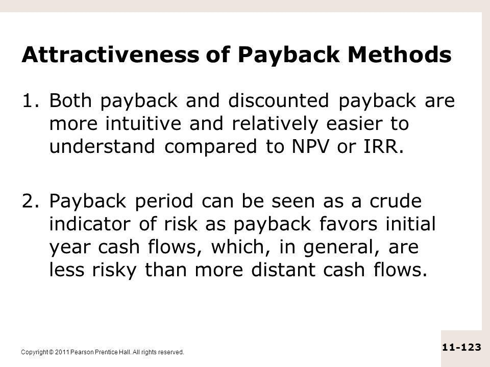 Attractiveness of Payback Methods