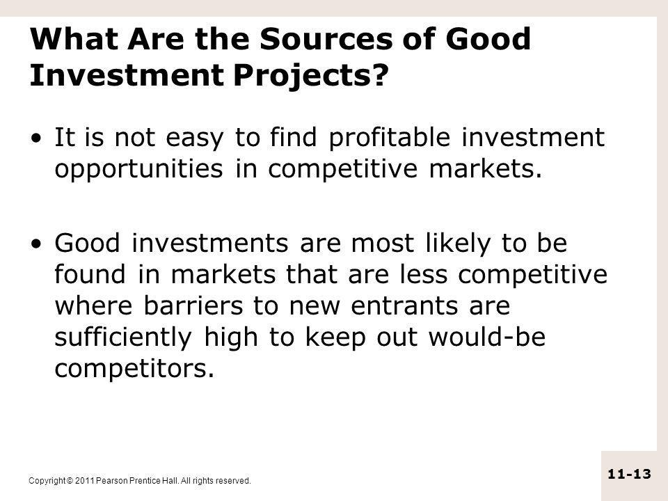 What Are the Sources of Good Investment Projects