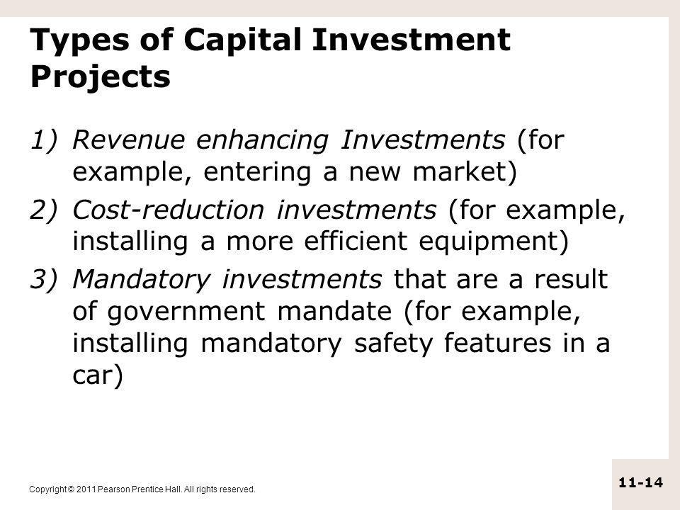 Types of Capital Investment Projects