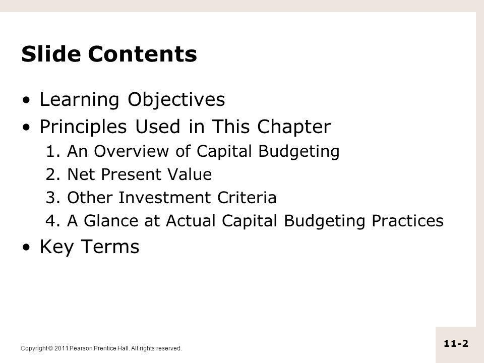 Slide Contents Learning Objectives Principles Used in This Chapter