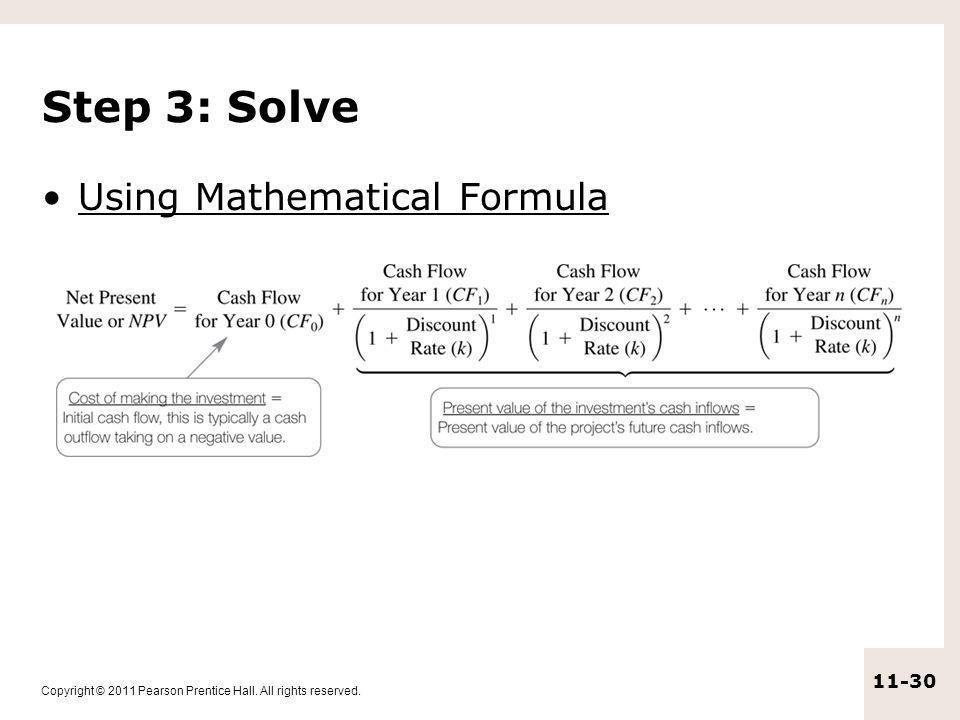 Step 3: Solve Using Mathematical Formula