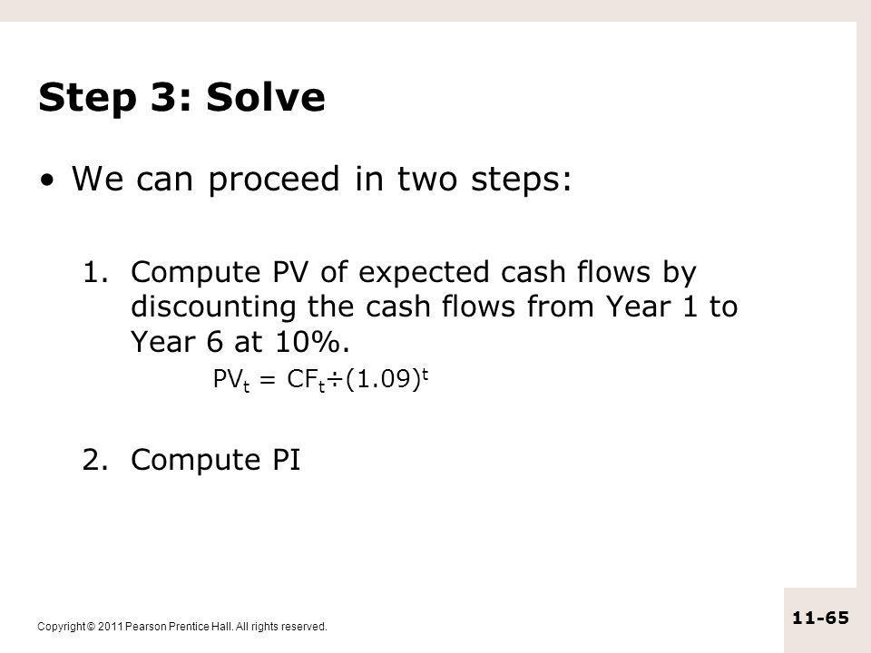 Step 3: Solve We can proceed in two steps:
