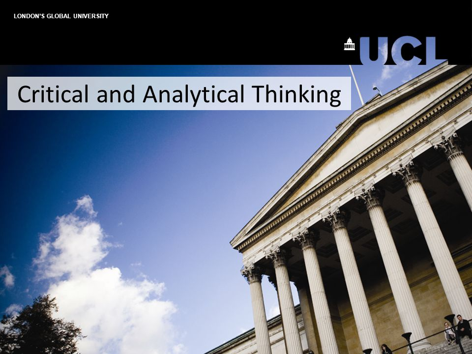 Critical and Analytical Thinking