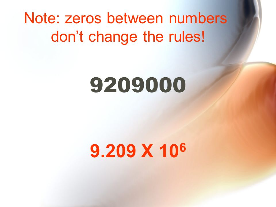 Note: zeros between numbers
