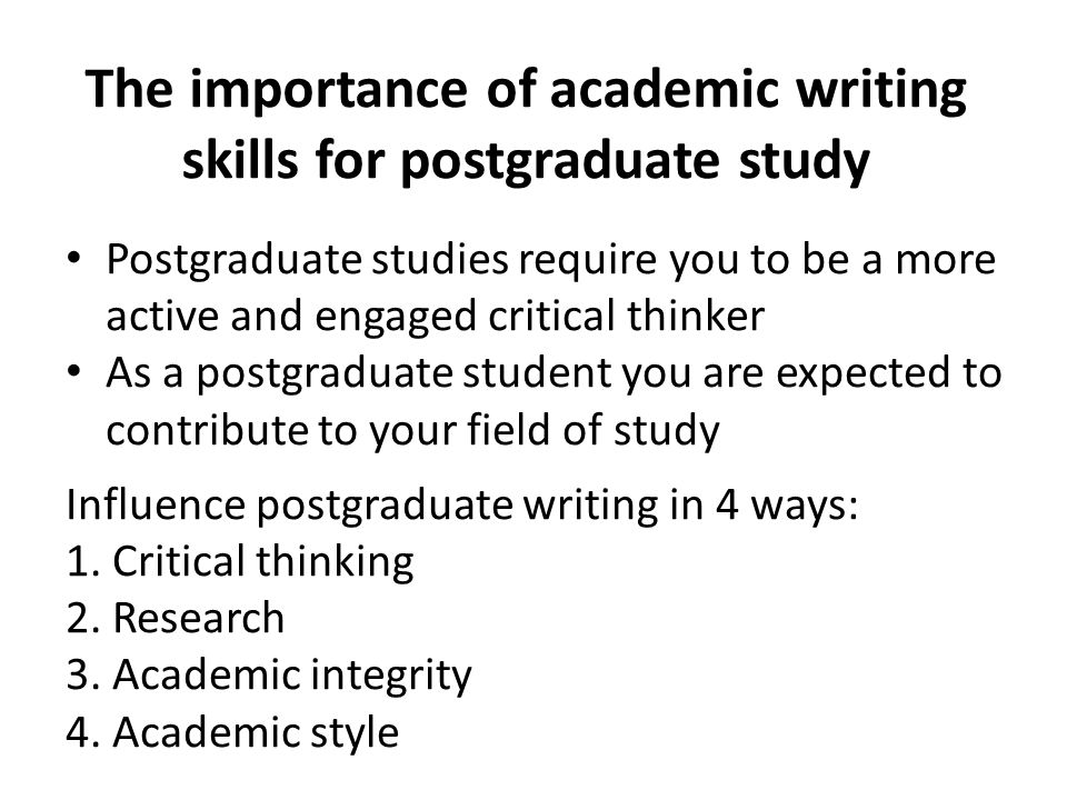 Academic writing skills conclusion examples