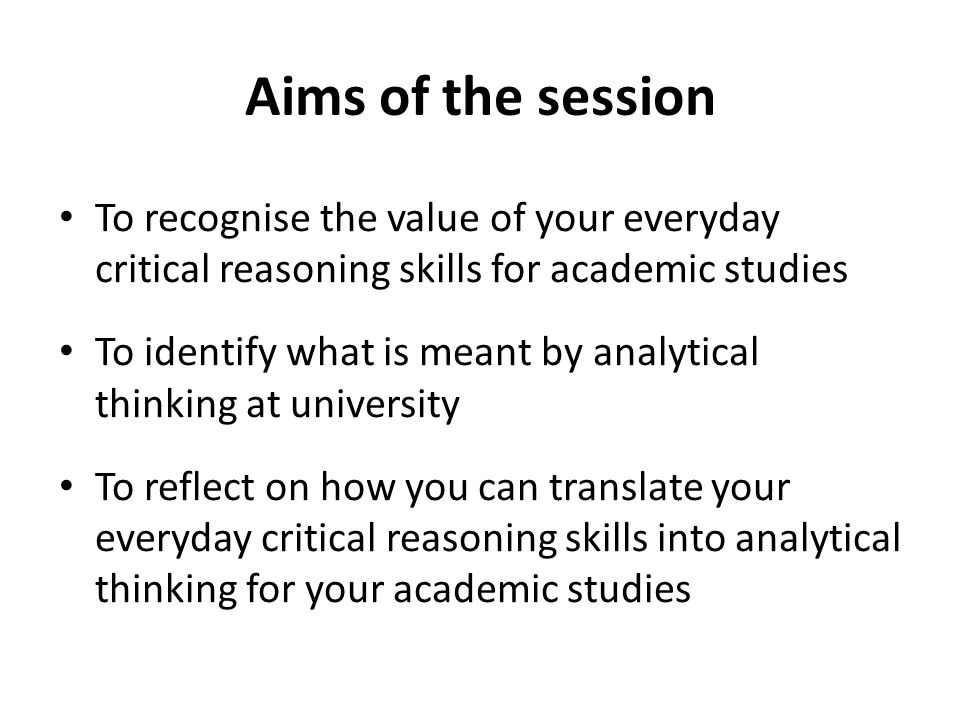 analytical reasoning vs critical thinking Learning to think and reason critically and analytically on a continuous basis is not easy everyday living is a series of decisions and choices that always revolve around what we want versus what we need or should do and it can be difficult to separate the two.