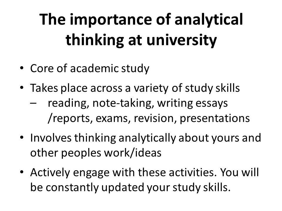 importance of writing essays at university