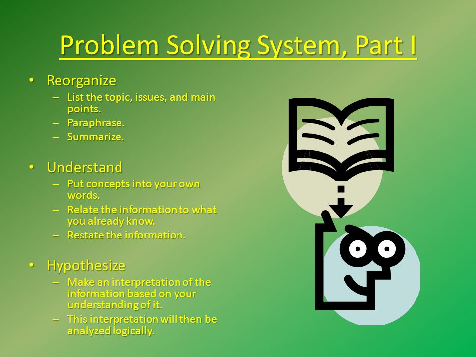 Problem Solving System, Part I