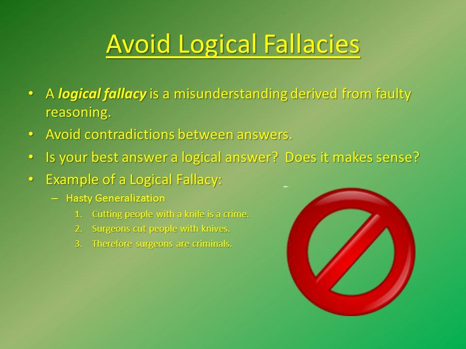 Avoid Logical Fallacies