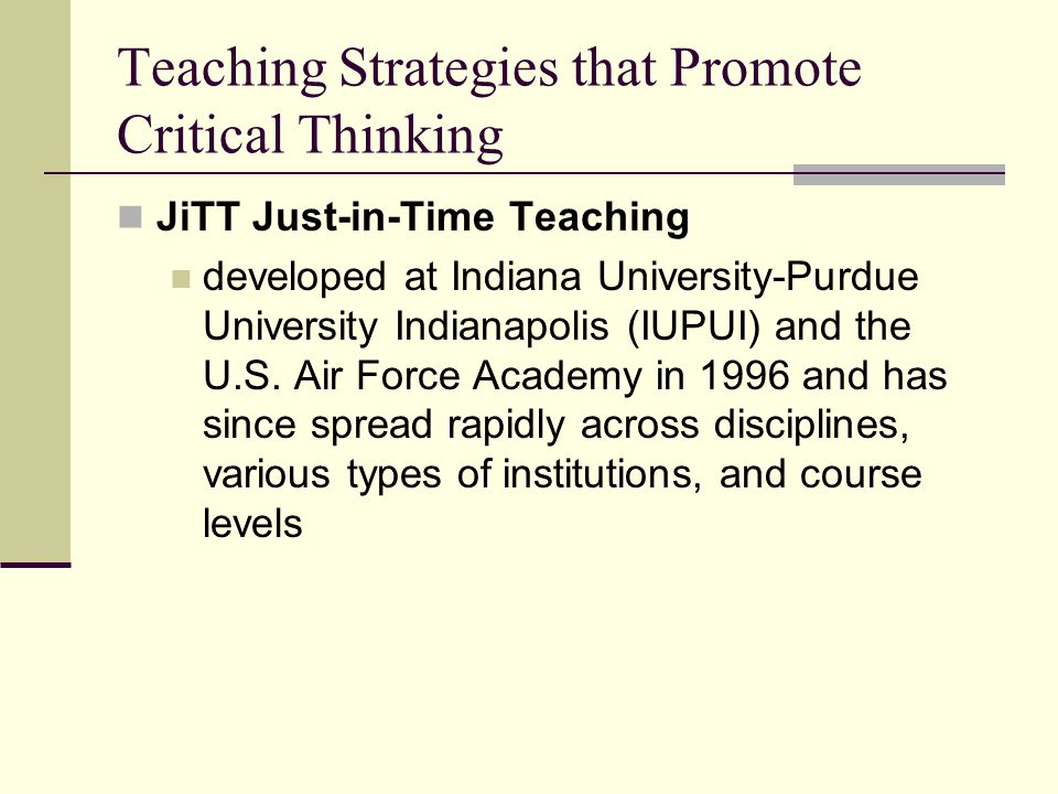instructional strategies for teaching critical thinking skills Critical thinking: teaching methods & strategies instructional design of critical thinking 78% state students lack critical thinking skills.