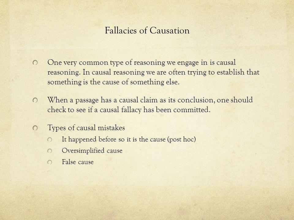 Fallacies of Causation