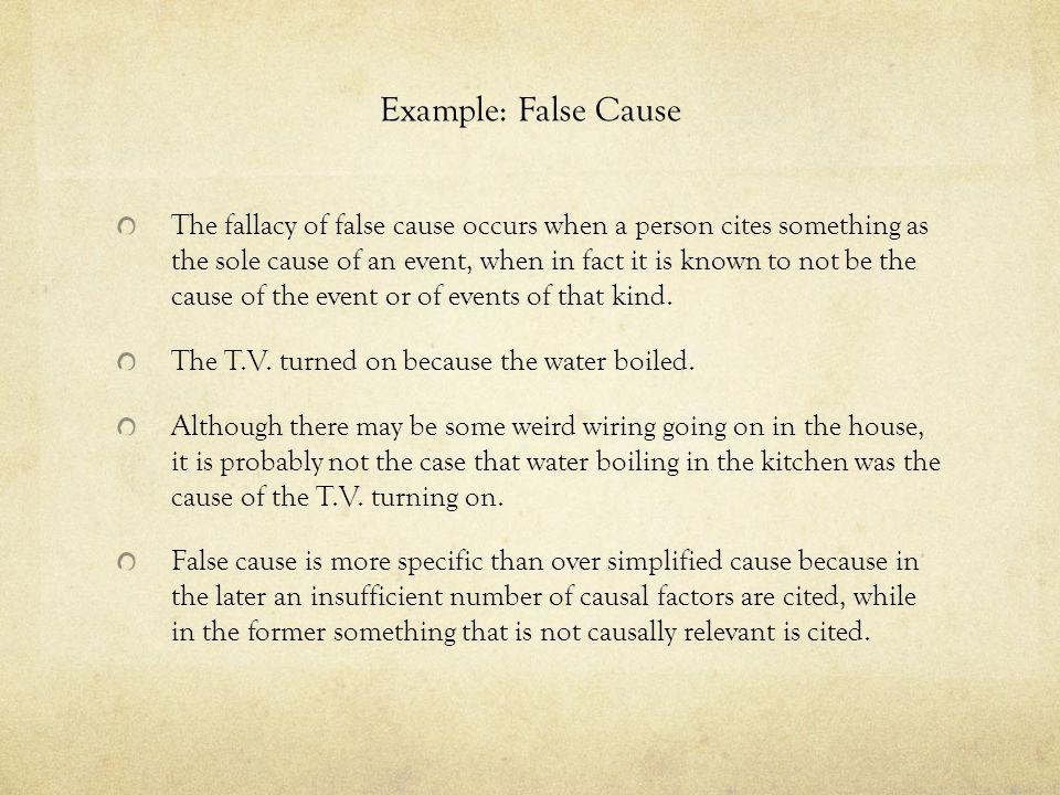 Example: False Cause