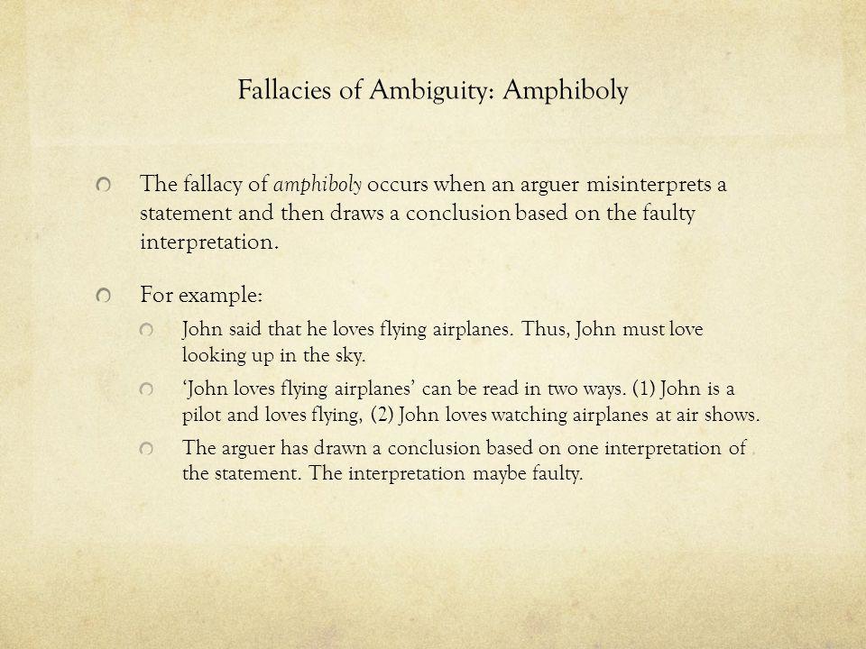 Fallacies of Ambiguity: Amphiboly