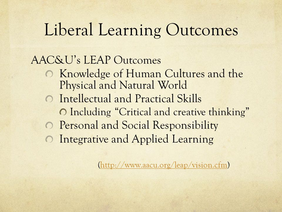 Liberal Learning Outcomes