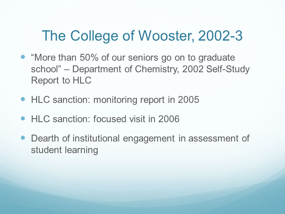 The College of Wooster, 2002-3
