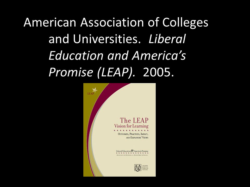 American Association of Colleges. and Universities. Liberal