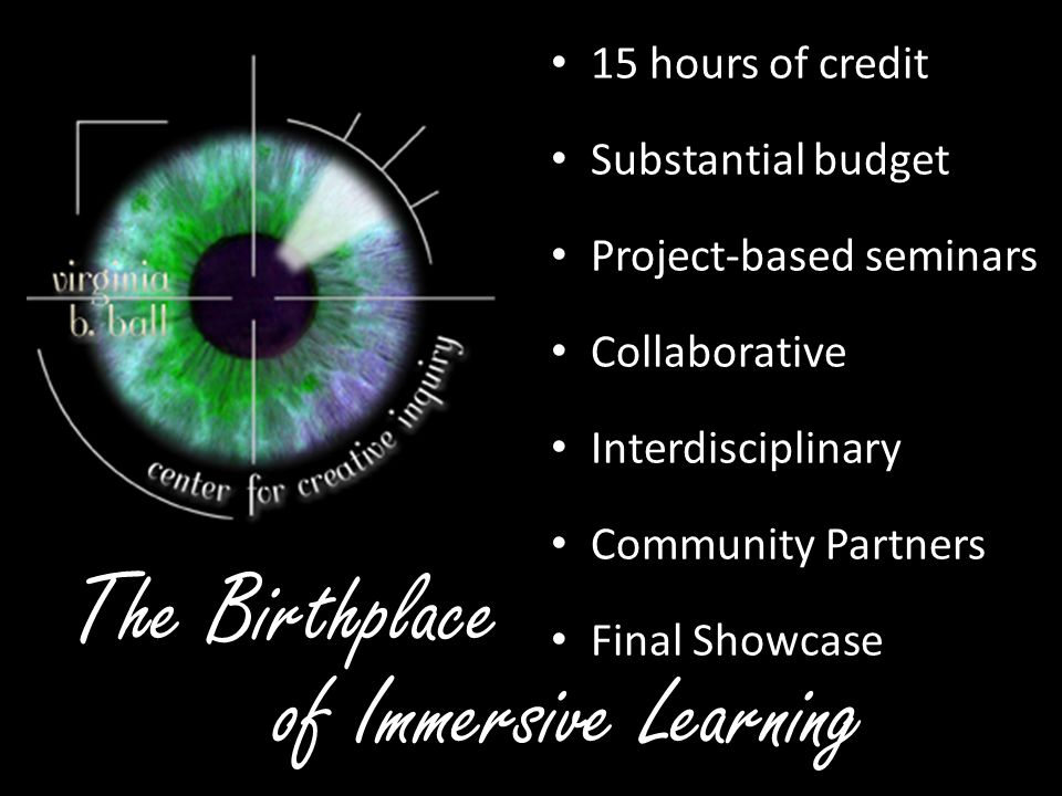 The Birthplace of Immersive Learning 15 hours of credit