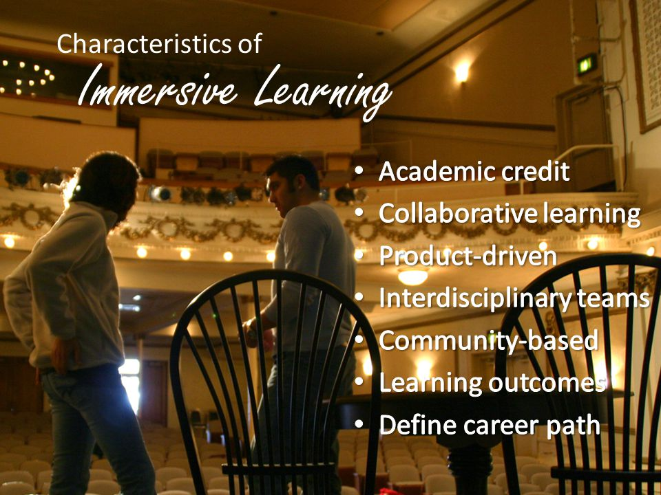 Immersive Learning Characteristics of Academic credit