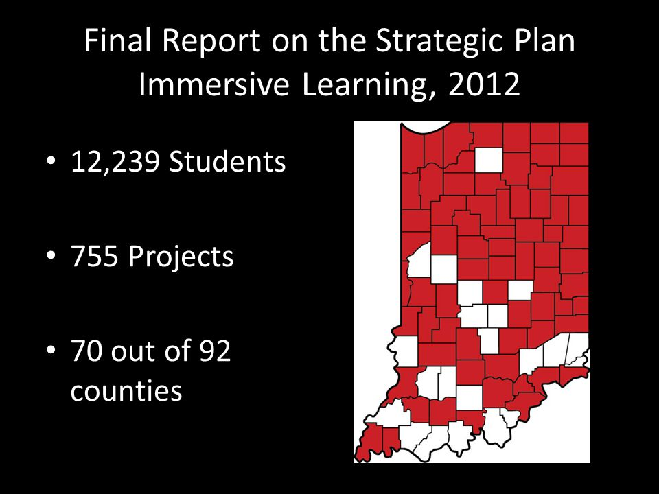 Final Report on the Strategic Plan Immersive Learning, 2012