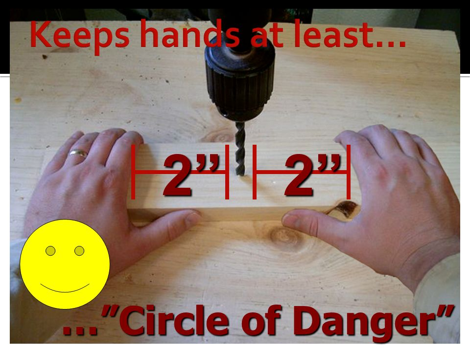 2 2 Keeps hands at least… … Circle of Danger