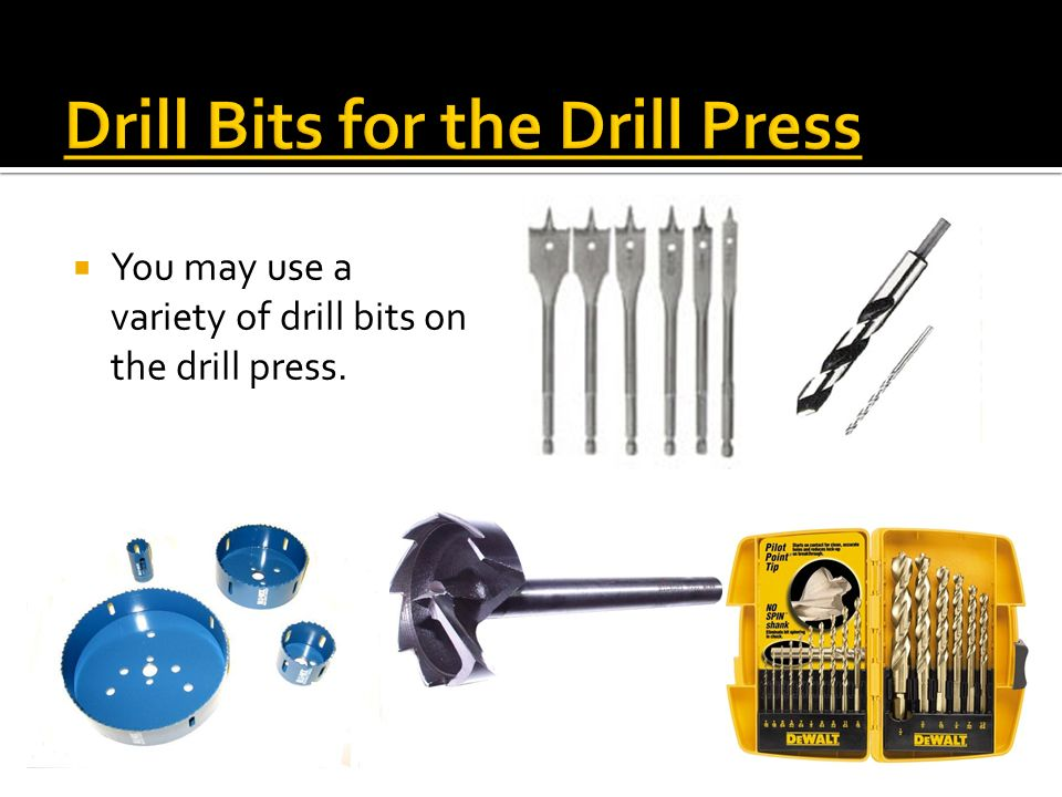 Drill Bits for the Drill Press