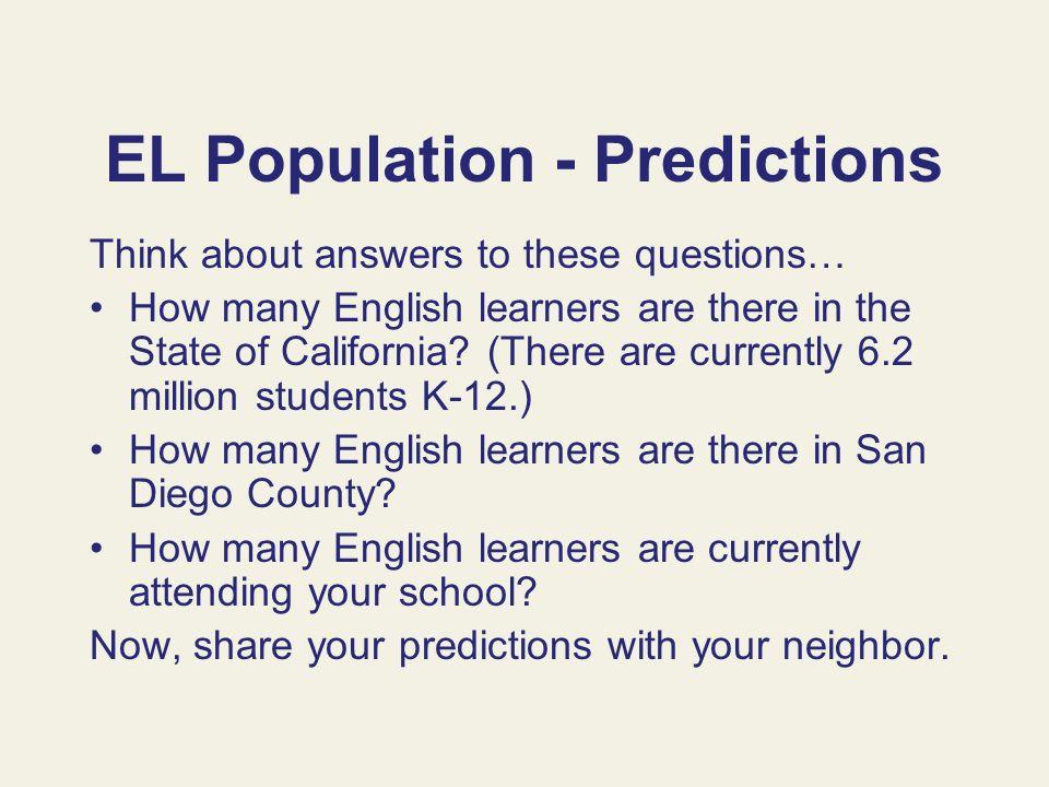 EL Population - Predictions