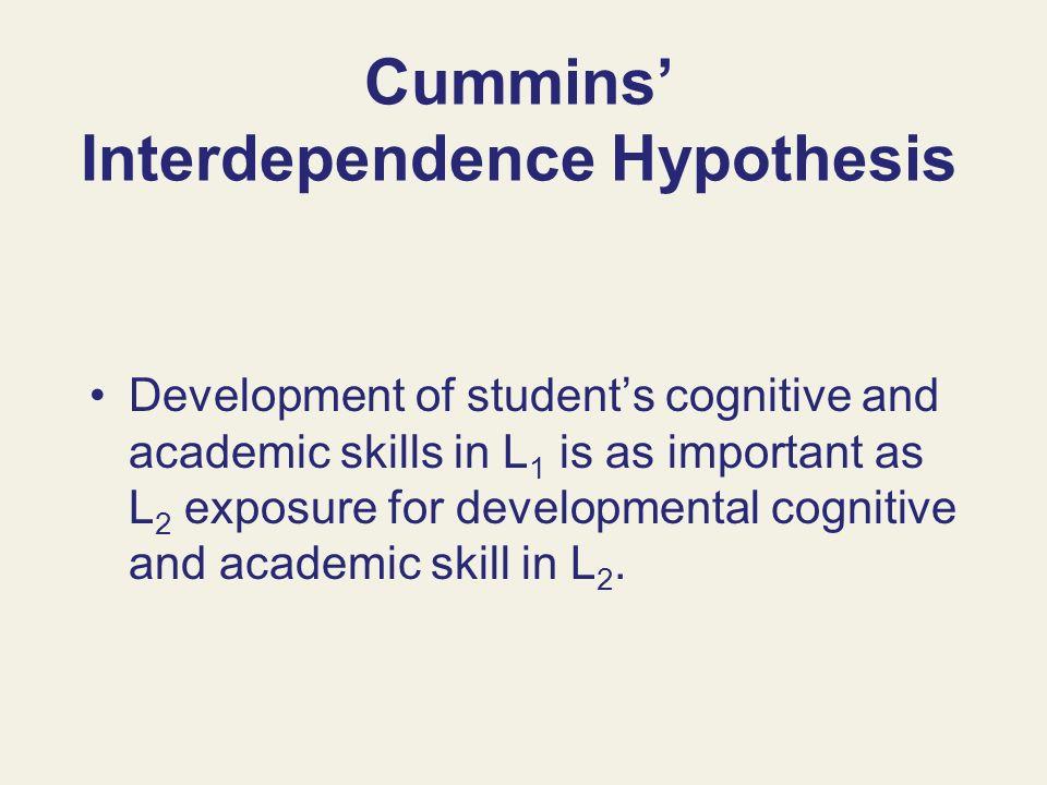 Cummins' Interdependence Hypothesis