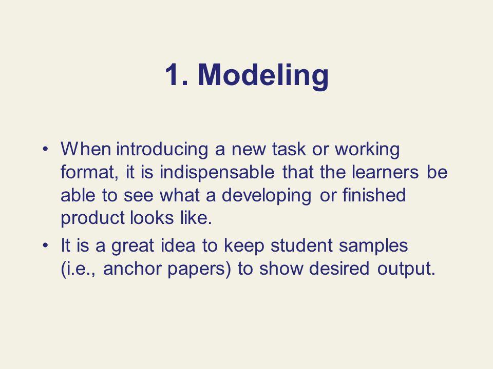 1. Modeling