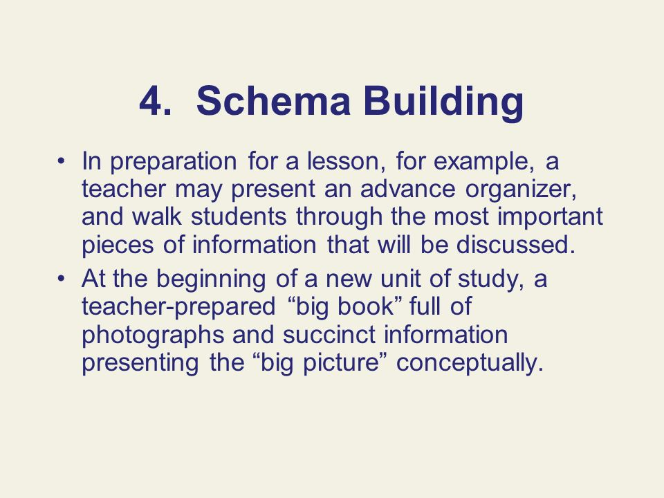 4. Schema Building