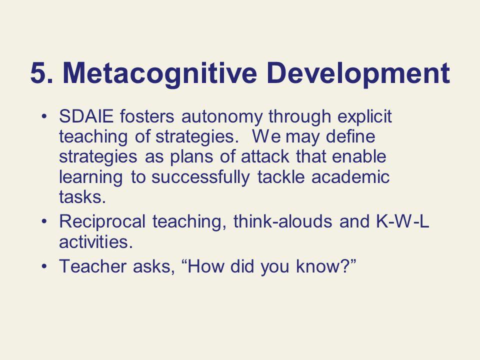 5. Metacognitive Development