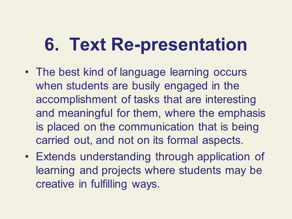 6. Text Re-presentation