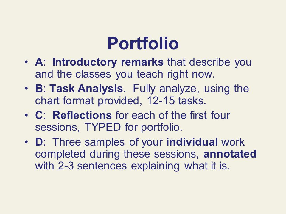 Portfolio A: Introductory remarks that describe you and the classes you teach right now.