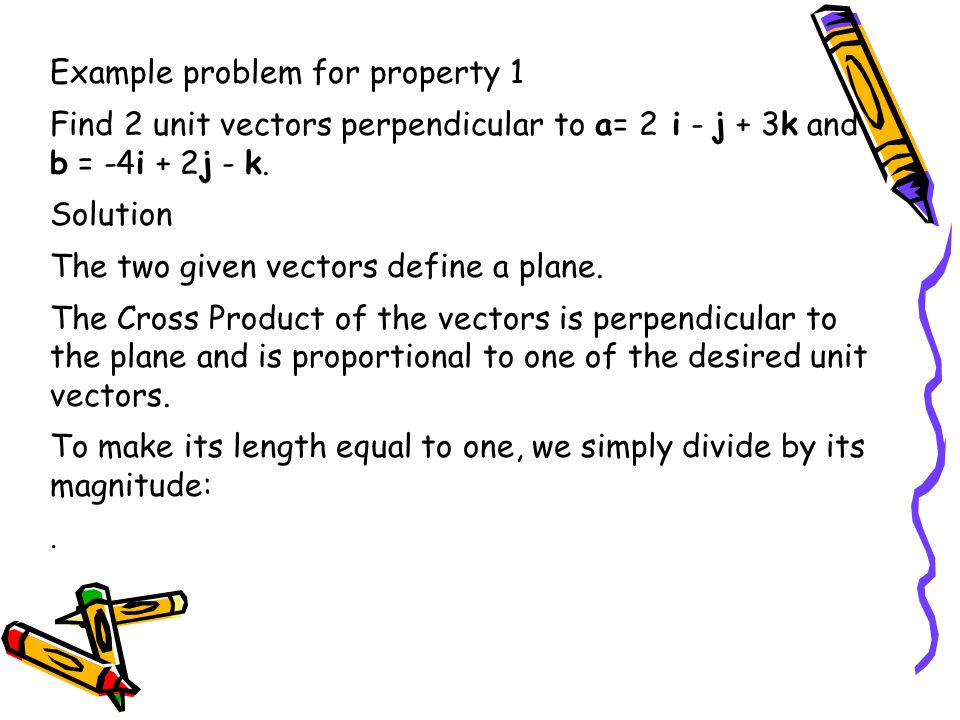 Example problem for property 1