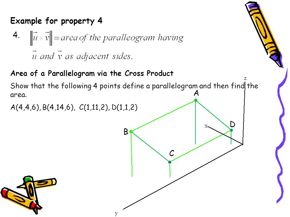 Example for property 4 4. A D B C