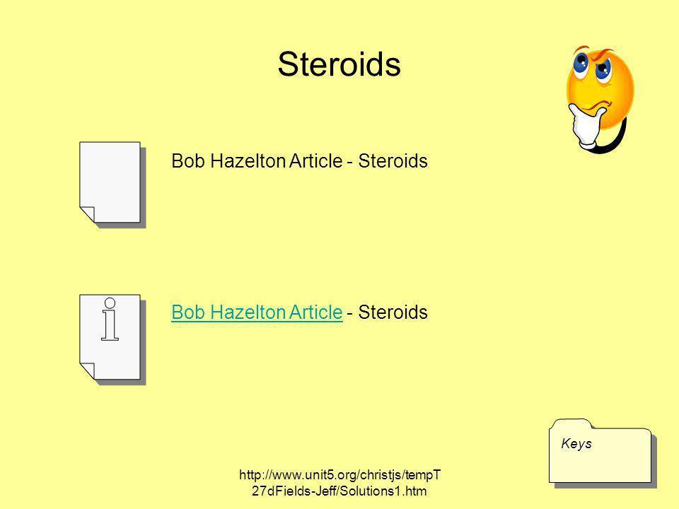 Steroids Bob Hazelton Article - Steroids