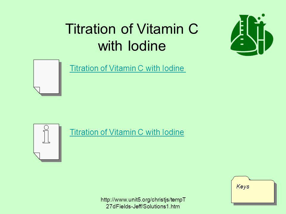 Titration of Vitamin C with Iodine