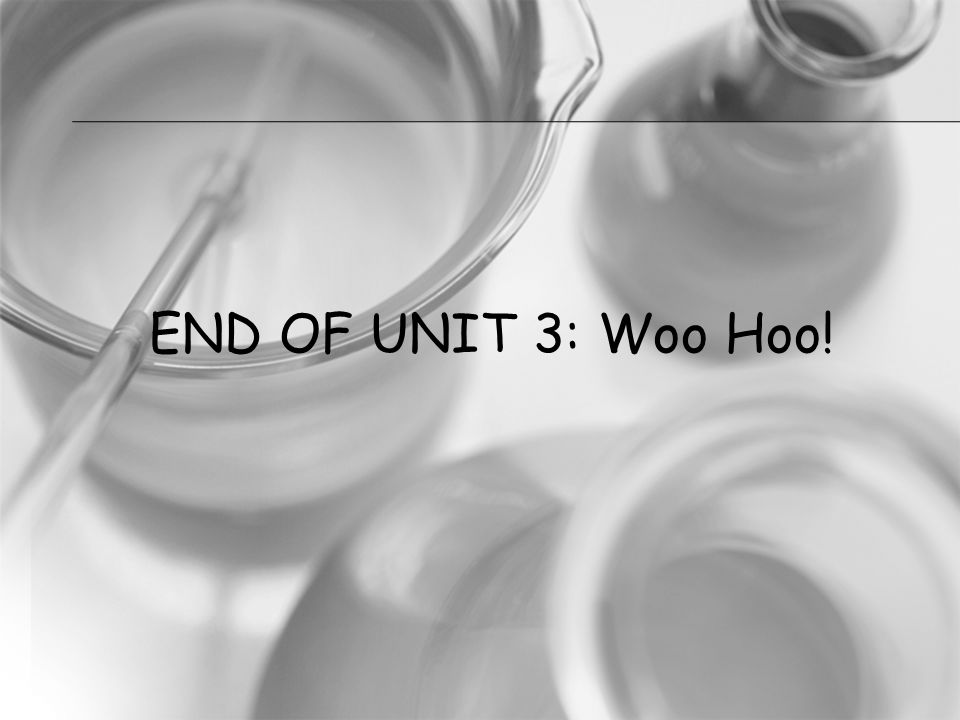 END OF UNIT 3: Woo Hoo!