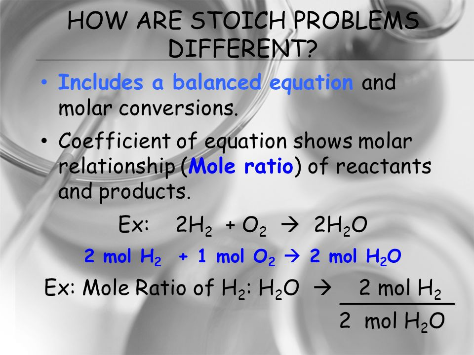 How Are Stoich Problems Different